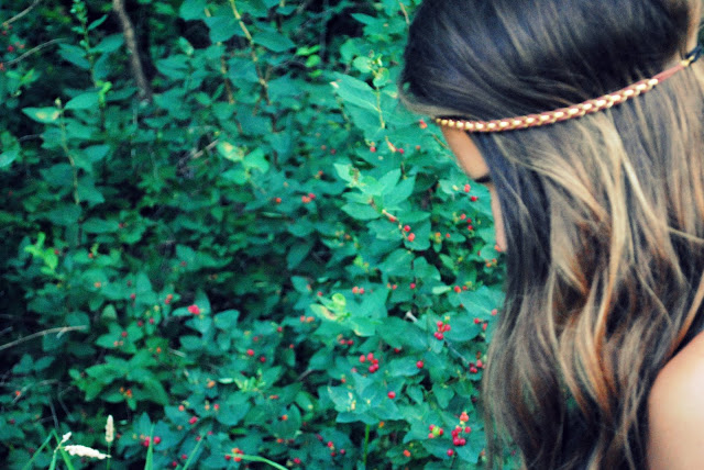 bohemian beaded headband for festival style