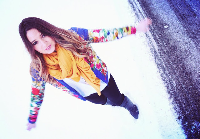 snowy day style in chicago by ela mariie