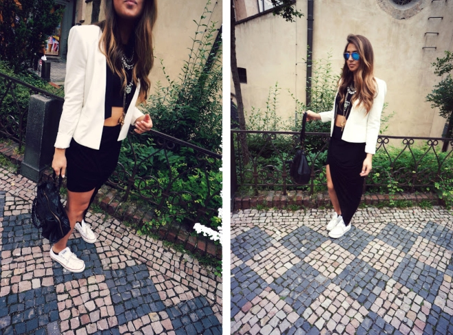black and white city chic style