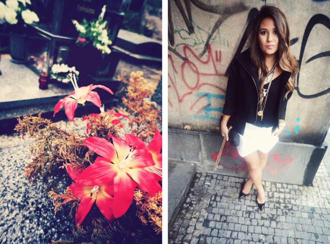 colorful flowers and grungy fashion inspo