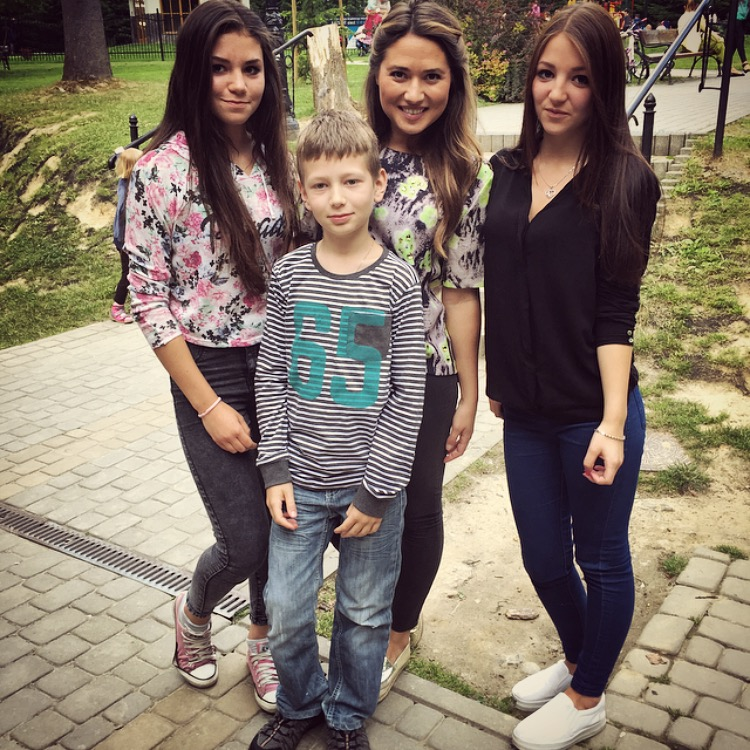 family in poland