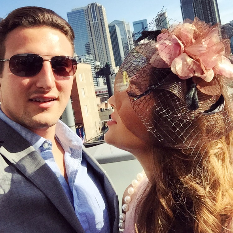 cute couple on kentucky derby day
