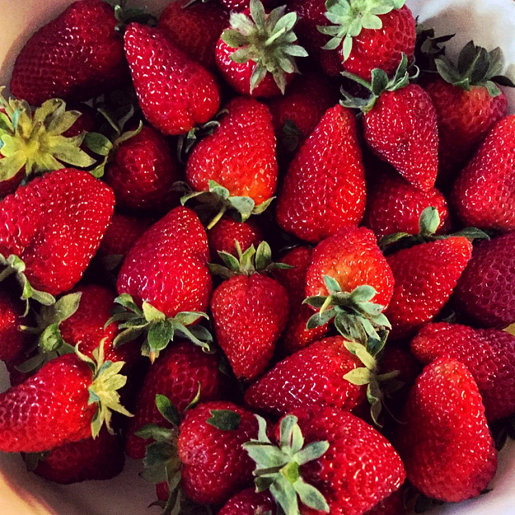 fresh strawberries straight from the farmers market