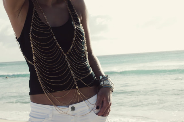 edgy body chain