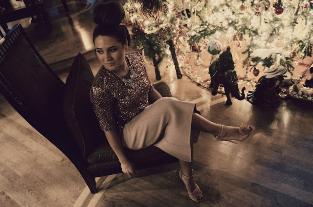 sparkly holiday style inspiration by ela mariie