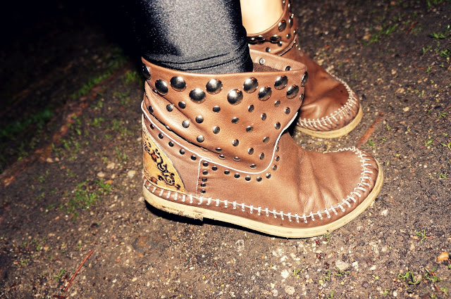studded coachella boots