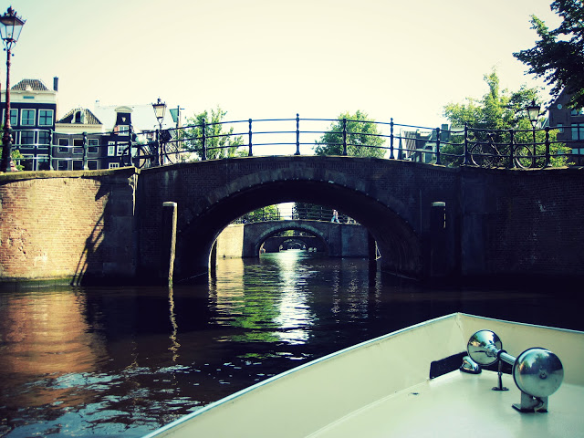 on the waterways of amsterdam