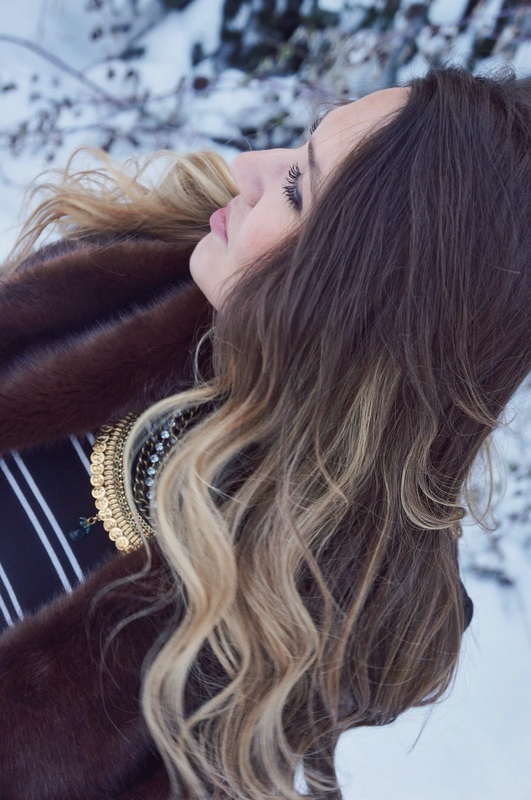 ombre hair inspiration and winter styling tips by ela mariie