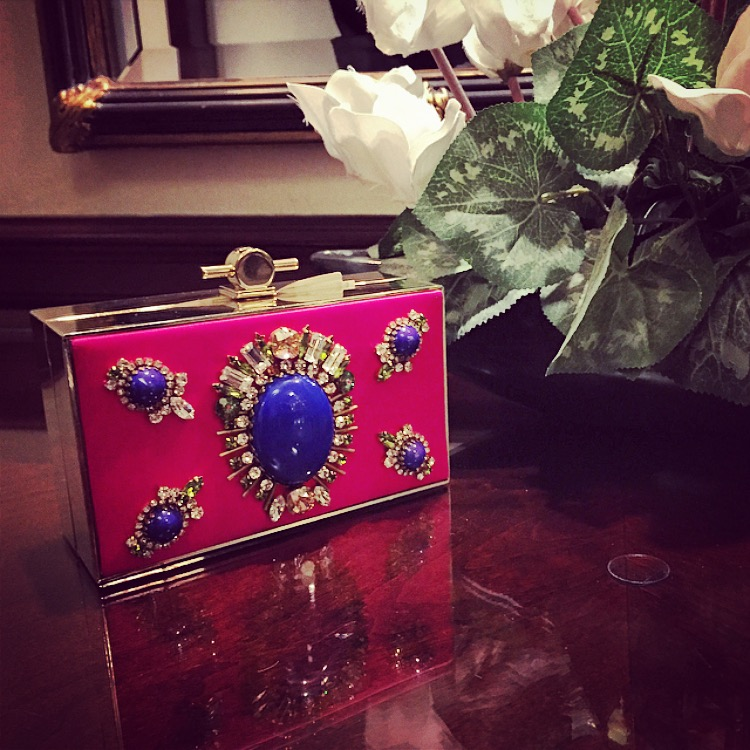 insane neon gem clutch