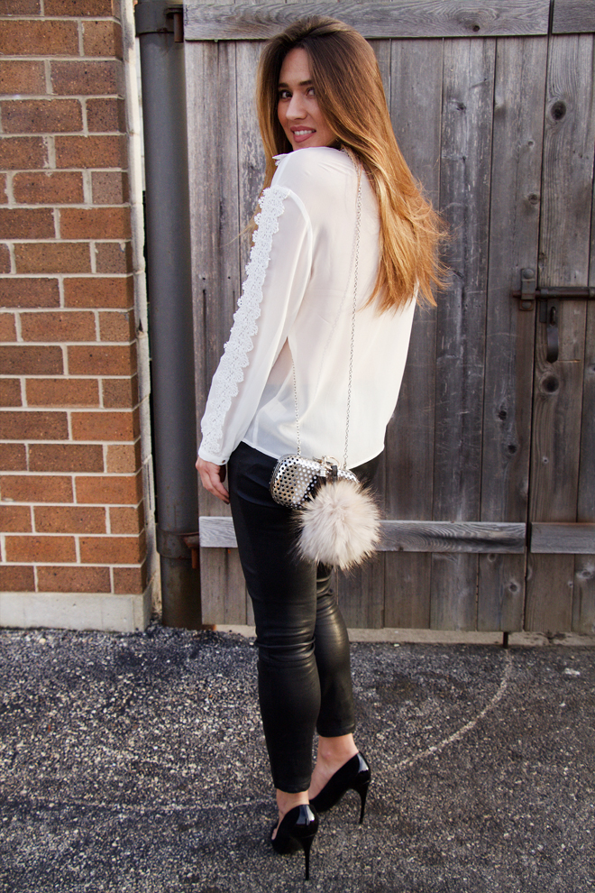 super easy black and white outfit