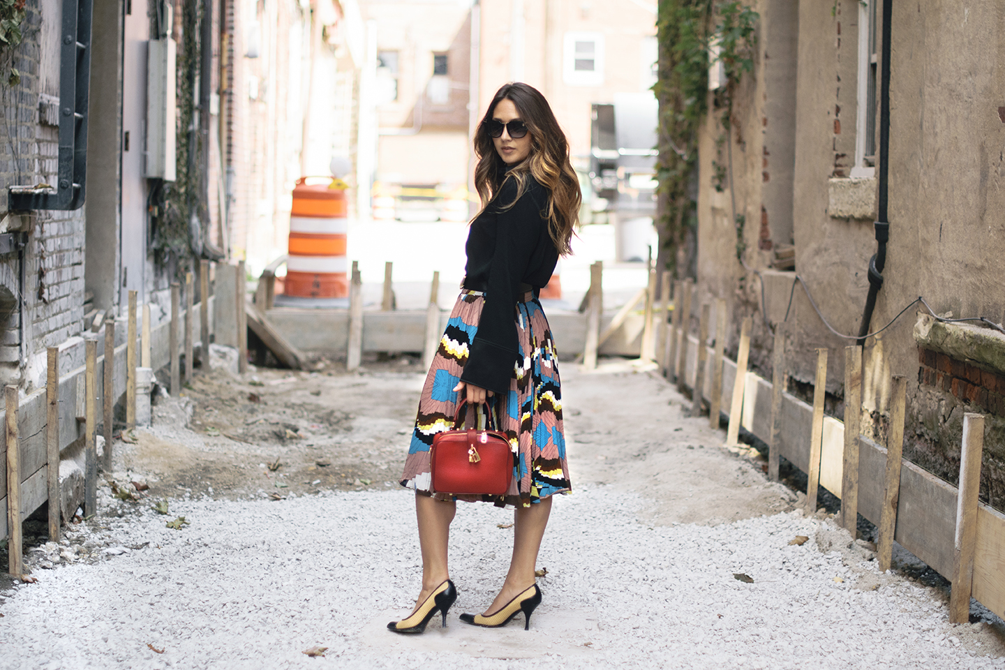 pleated-colorful-skirt