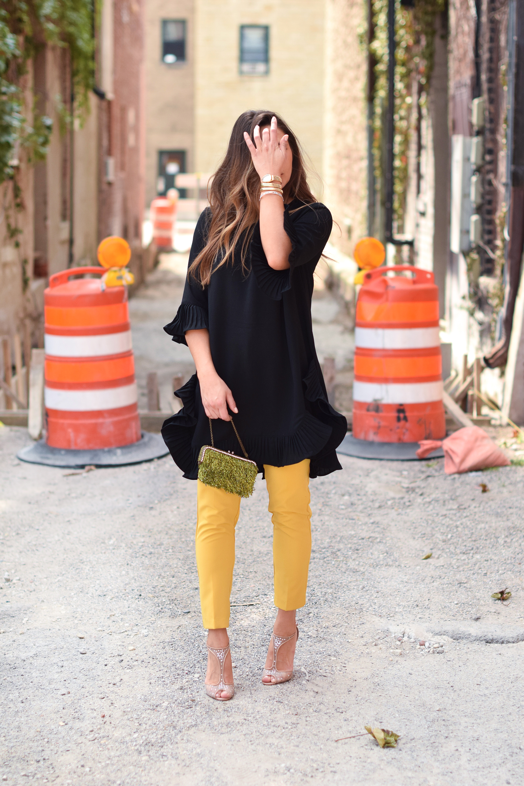 dress-over-pants-chic-outfit-idea