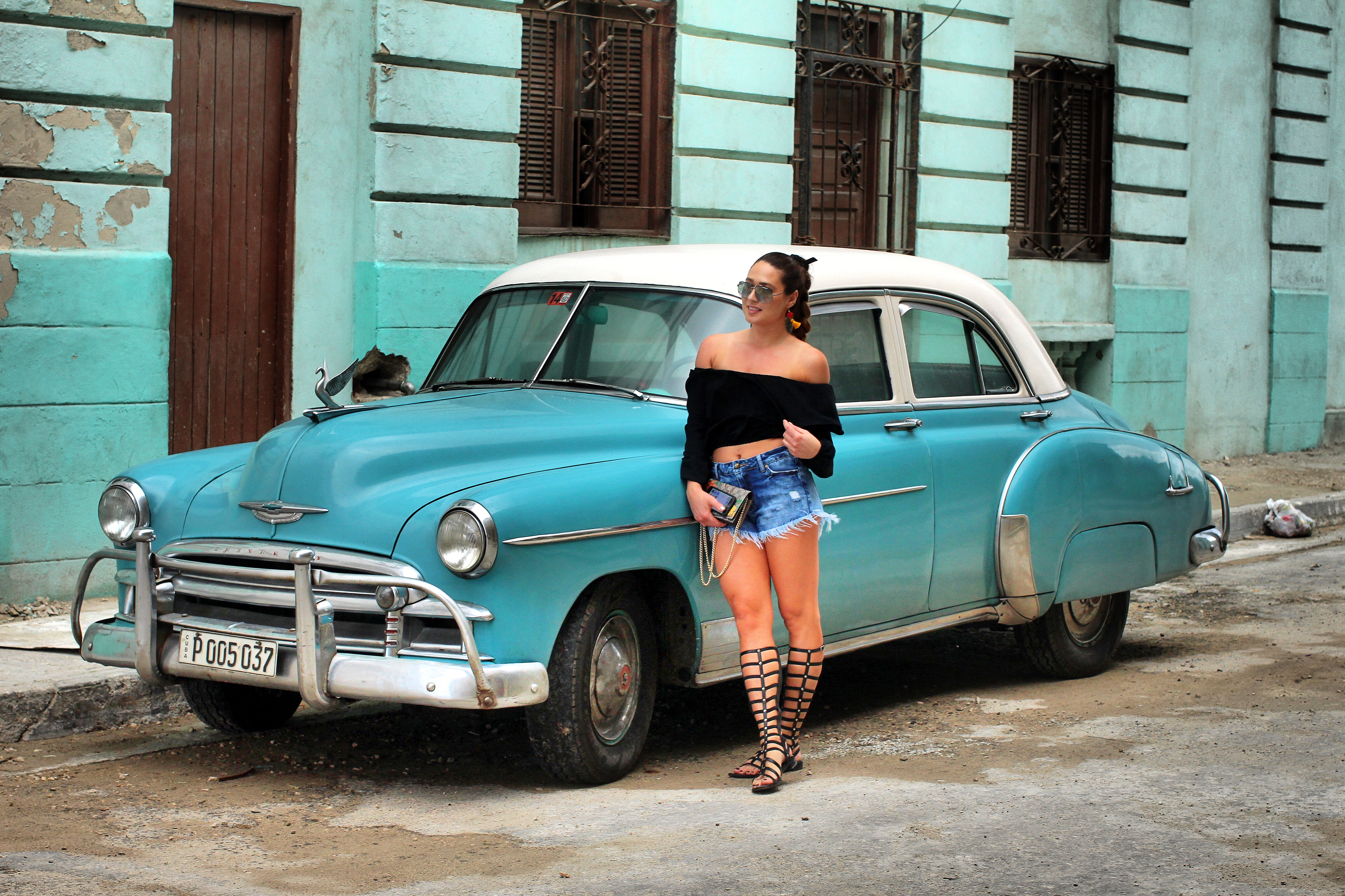 girl-and-old-car-in-cuba