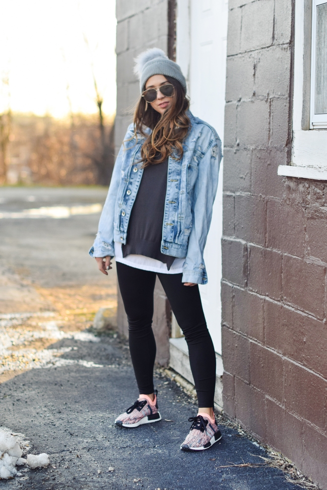 pretty-girl-awesome-hair-style-chill-outfit-quay-sunnies-big-jean-jacket