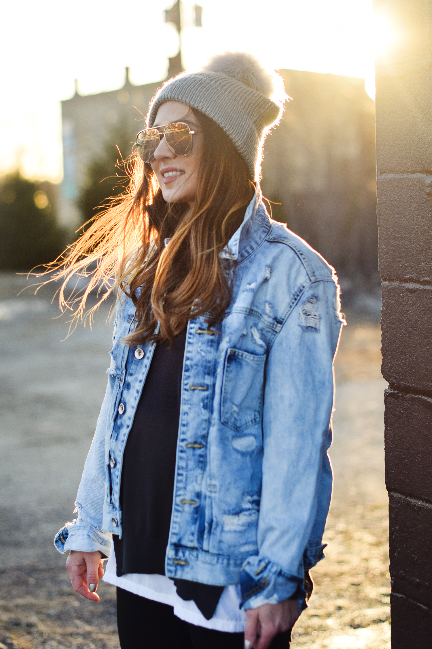 california-girl-pac-sun-beanie-jean-jacket-pretty-girl