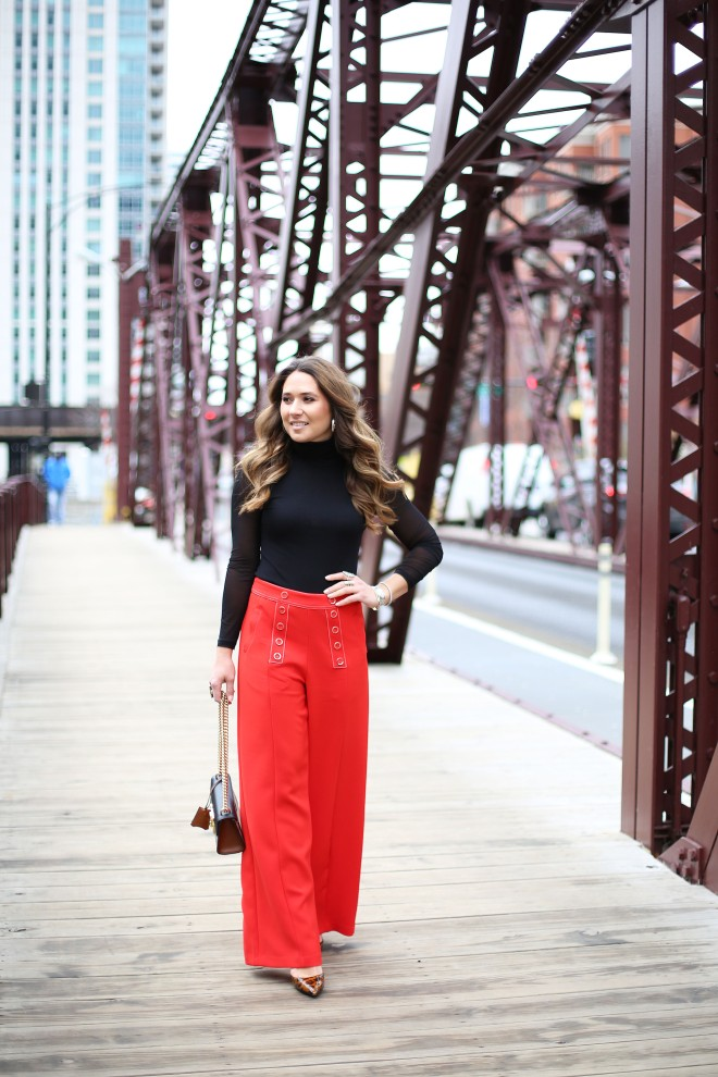 perfect-work-outfit-cute-red-pants-pretty-girl