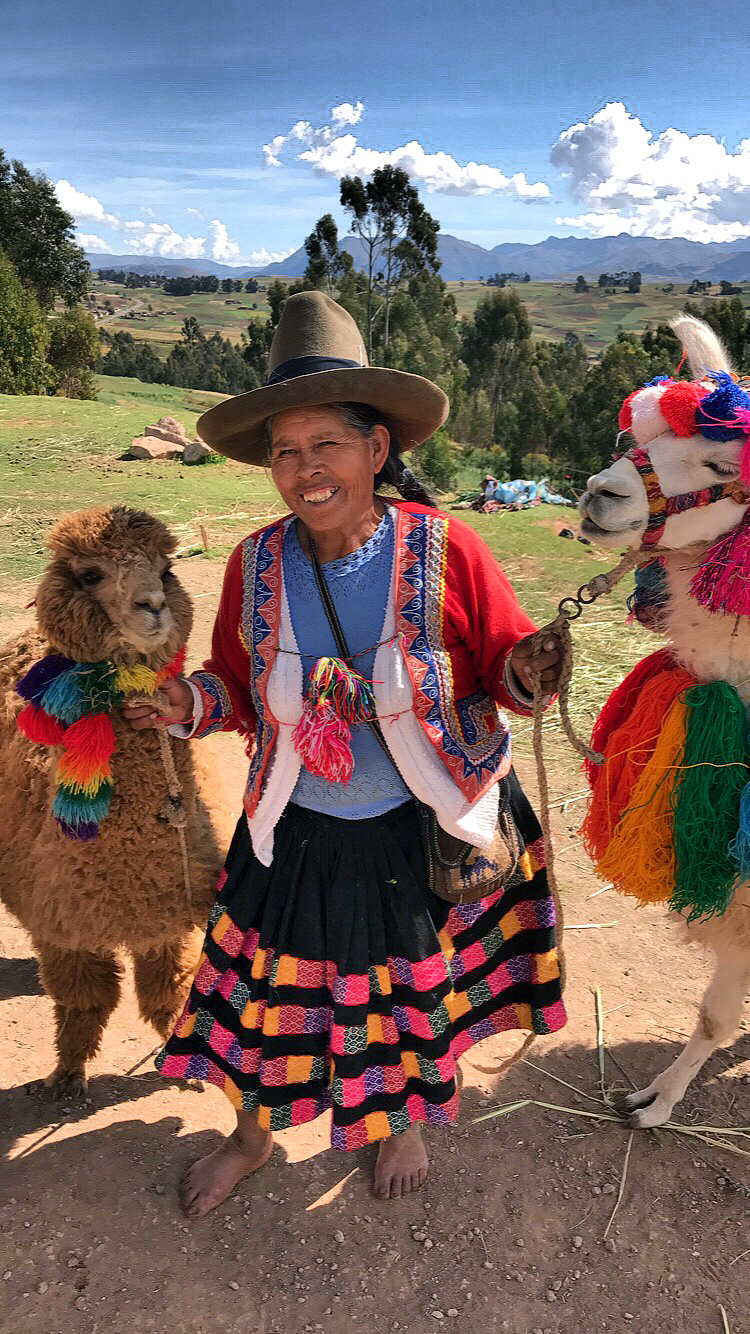 authentic-traditional-clothing-peru-beautiful-peruvian-lady-with-llamas-colorful
